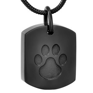 Stainless Steel Pet Memorial Urn Pendant & Chain